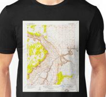 USGS TOPO Map Arizona AZ Lees Ferry 314745 1954 62500 Unisex T-Shirt
