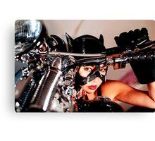 beautiful bikers catwoman Canvas Print