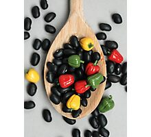 Black Beans & Bell Peppers Photographic Print