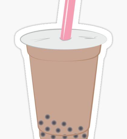 Chai Milk Bubble Tea Pattern Sticker