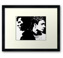 Sherlock and John, Dark and Light Framed Print
