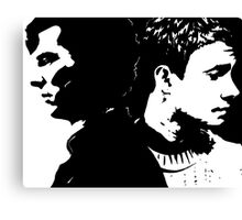 Sherlock and John, Dark and Light Canvas Print
