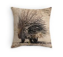 Porcupine and its Quills - African Wildlife Throw Pillow
