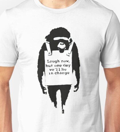 Banksy - Monkey in charge Unisex T-Shirt