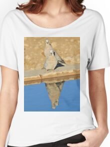Cape Turtle Dove - Reflection of Blue - African Wildlife Women's Relaxed Fit T-Shirt