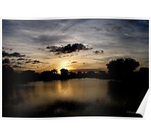 Under a Dark Cloud~ an Uneasy Sunset Poster