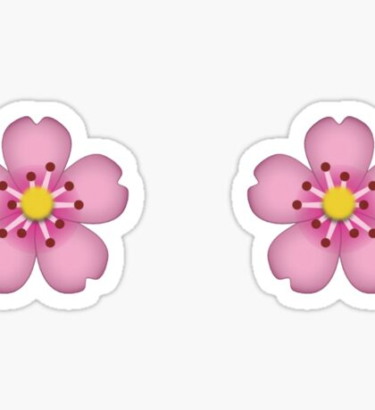 Emoji flower Sticker