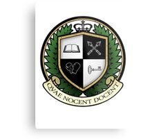 School of Hard Knocks University Crest Metal Print