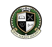 School of Hard Knocks University Crest Photographic Print