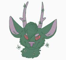 Green Deer by Sly-Of-Lie