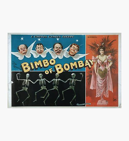 Performing Arts Posters A magical musical comedy Bimbo of Bombay 0816 Photographic Print