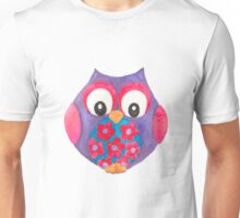 Bella the cute purple owl Unisex T-Shirt