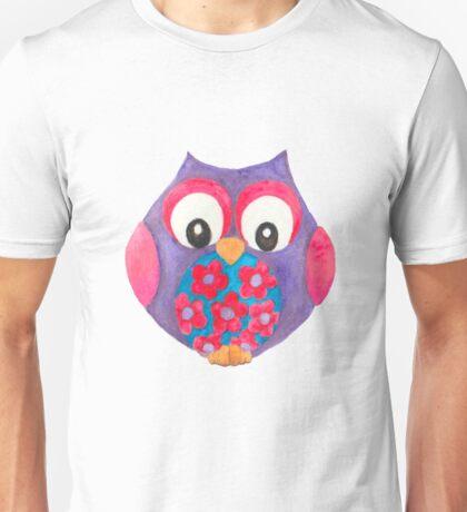 Bella the cute purple owl Unisex T-Shirt
