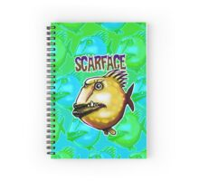 scar face fish Spiral Notebook