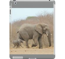 Elephant Love - Keeping up with Dad - African Wildlife iPad Case/Skin
