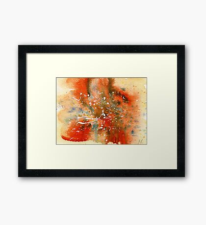 Watercolor abstract  Framed Print