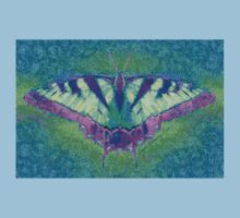 BUTTERFLY PLEASES WHEREVER IT GOES Kids Tee