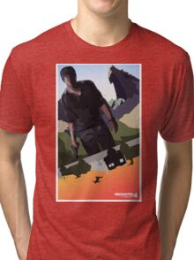 Uncharted 4   Nathan in Action Tri-blend T-Shirt