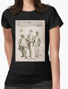 Performing Arts Posters Hoyts comic whirlwind A brass monkey a satire on superstition 1247 Womens Fitted T-Shirt