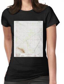 USGS TOPO Map Arizona AZ Red Bird Hills 313041 1985 24000 Womens Fitted T-Shirt