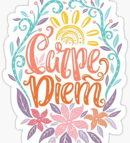 Carpe Diem - Seize the day Latin phrase Sticker