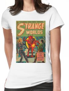 Strange Worlds - The Monster Men of Space Womens Fitted T-Shirt