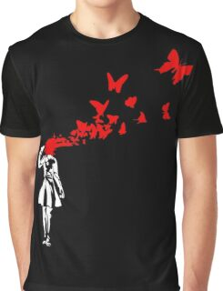 Banksy - Girl Suicide Graphic T-Shirt