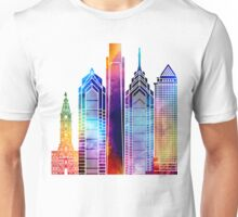 Philadelphia landmarks watercolor poster Unisex T-Shirt