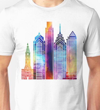 Philadelphia landmarks watercolor poster Unisex T-Shirt