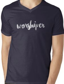 Worshiper Mens V-Neck T-Shirt