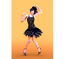 Flapper Dancing Photographic Print