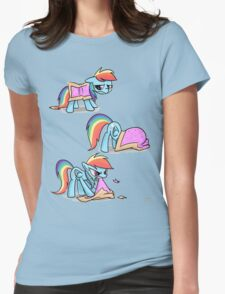Rainbow Dash Nyan cat Womens Fitted T-Shirt