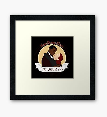 Frankly My Dear Framed Print