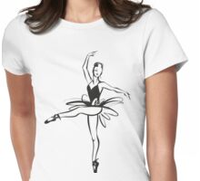 Ballerina - Ballet Dancer hand drawn illustration Womens Fitted T-Shirt