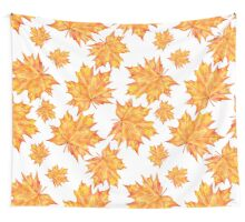 pattern with autumn leaves Wall Tapestry