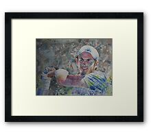 Andy Murray - Portrait 6 Framed Print