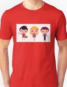 Cute school children : Original hand-drawn Designers Edition Unisex T-Shirt