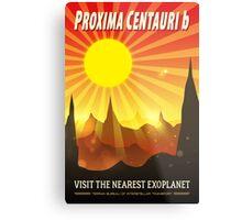 Proxima Centauri b Exoplanet Travel Illustration Metal Print