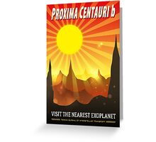 Proxima Centauri b Exoplanet Travel Illustration Greeting Card