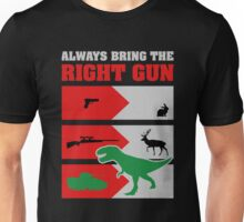 RIGHT GUN funny Dinosaurs Unisex T-Shirt