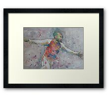 Thierry Henry - Portrait 2 Framed Print