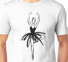 Ballet Dancer hand drawn graphic illustration Unisex T-Shirt