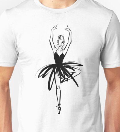 Ballet Dancer hand drawn graphic illustration Unisex T-Shirt