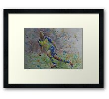 Theo Walcott - Portrait 2 Framed Print
