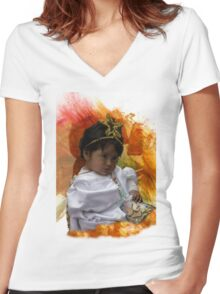 Cuenca Kids 825 Women's Fitted V-Neck T-Shirt