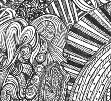 A Girl In A Swirl Sticker