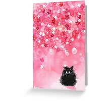 Falling Petals Greeting Card