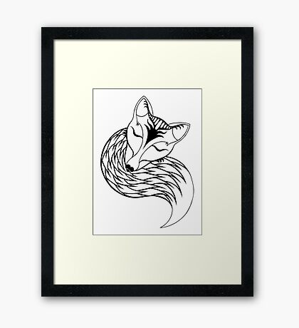 Tranquil Fox Framed Print