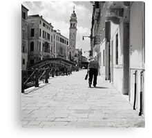The Leaning Man Canvas Print