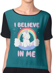 Cute Unicorn Chiffon Top